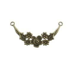 Antique Brass Pewter Flower Connector, 14x57mm Presidents Day Sale, Antique Brass, Pewter, Belly Button Rings, Bling, Brooch, Beads, Flower, Antiques