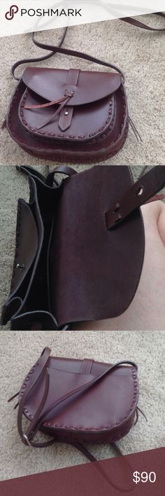 Madewell Asheville Saddlebag Brand new without tags.  Never carried.  Took tags off and it sat in my closet.  Made of tanned Italian leather.  Adjustable Crossbody strap.  Retails for $138 Madewell Bags Crossbody Bags