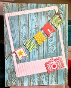 Got Glue - Will Craft: Picture perfect coffee with friends - say what?? / On the Film, Banner Blast, Sale-A-Bration, Stampin'Up! Hard wood stamp