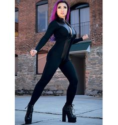 M7217, Yaya Han Zippered Bodysuit