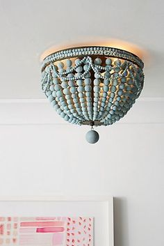 Malibu Flush Mount light blue beaded light fixture Full Circle Home: Fun natural, earthy, bohemian Lighting options Beaded Chandelier, Lighting, Light Fixtures, Lights, Pendant Lighting, Chandelier, Diy Chandelier, Outdoor Light Fixtures, Diy Lighting