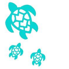 Turtles Set Of 3Vinyl Decal by KreativeCorner on Etsy, $8.00