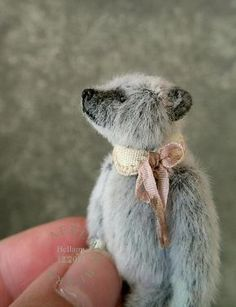 Image of SOLD ~ Miniature Teddy 'Bellamy' from Aerlinn Bears