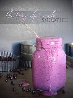 Blueberry Cheesecake Smoothie  #PureandSimple  #ChocolateInfusedEscapades