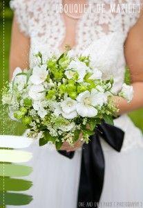 D co mariage vert meraude et dor metys vous d co de for Bouquet de fleurs wine