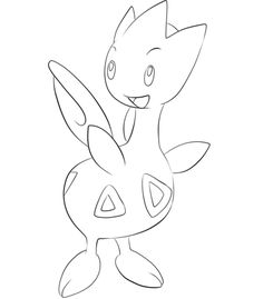 Click To See Printable Version Of Togetic Coloring Page