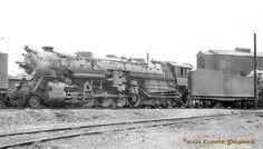 Castle Graphics Transportation Galleria - Colorado 2-10-4/cbq 6327 2-10-4 galesburg il jan1932