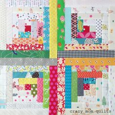 crazy mom quilts: the start of a traditional log cabin quilt