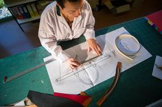 Step 1. The Longchamp design office gives the pattern cutters a design making it possible to develop a first prototype.