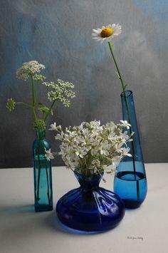 ARTFINDER: Elegance Galore by Randi Grace Nilsberg - White and blue shows pure elegance.