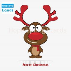 Illustration about Reindeer child sitting in Christmas red hat. Illustration of deer, christmas, nose - 21974882 Christmas Ecards, Christmas Clipart, Very Merry Christmas, Red Christmas, Reindeer Christmas, Winter Holidays, Holidays And Events, Illustration Noel, Kawaii