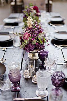 tavola matrimonio viola #purplewedding #ultraviolet
