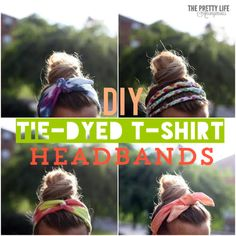 4 ways to make a fun tie dye head band from an old tshirt!
