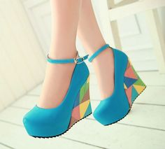 2014 spring summer new fashion sexy wedges high heels pumps for women lady sandals peep toe shoes for women HH853