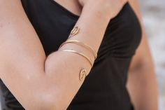 Hamerred Handmade Bronze cuff & Arm Bracelet made from Bronze-Brass 18 ct Goldplated  Buy it here: https://www.etsy.com/listing/225966177/hamerred-handmade-bronze-cuff-arm?ref=shop_home_active_14