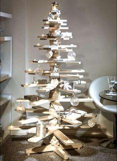 Fabriquer un arbre de Noël en bois