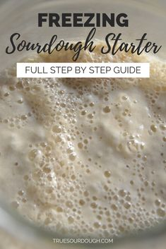 Taking a break from sourdough starter? This post goes through step by step freezing bread starter, drying sourdough starter, and storing sourdough starter in the fridge. 3 ways to store sourdough starter depending on short, medium or long term storage. Amish Bread Starter, Sourdough Bread Starter, Yeast Starter, Sourdough Recipes, Bread Machine Recipes, Bread Recipes, Cooking Recipes, Bread Machine Cinnamon Rolls, Cinnamon Bread