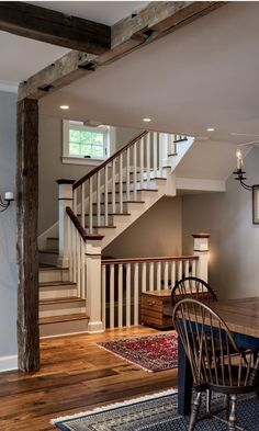 Nice, simple stair railing. Lake House in Connecticut by Crisp Architects | hookedonhouses.net
