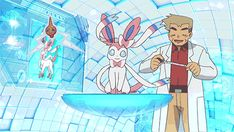 pokemon my gifs Professor Oak xy pokemon x and y Sylveon fairy ...