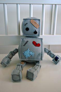 Felted robots: idea not a tutorial