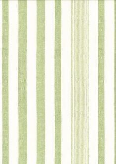 Maremma Rigato in Ivory green from C&C Milano #green #stripes #wallpaper #interiordesign #designinspiration #thetextilefiles #clothandkindinteriordesign #c&cmilano