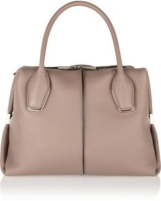Tod's D-Cube Bauletto Medium Textured-Leather Tote | #Chic Only #Glamour Always
