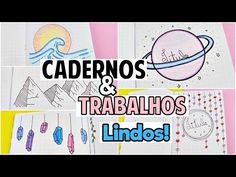 IDEIAS BONITAS PARA CAPAS DE TRABALHOS ESCOLARES #2 - YouTube