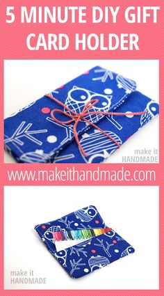 Gift Card Holder - Seasonal Sewing Series - So Sew Easy