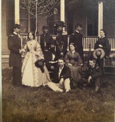 Civil War Officers with Lady's CDV Taken by Isaac Lachman Phil. Lady on left appears to be wearing a wrapper
