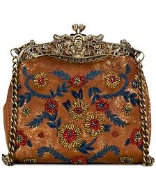 Clutch Designer Handbags - Macy's Patricia Nash, Handbag Accessories, Women Accessories, Designer Clutch, Designer Handbags, Hippie Bags, Beaded Bags, Vintage Purses, Wallet Chain