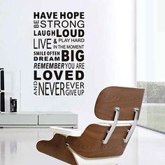 JiuBai™  Have Hope Quote Word Art Wall Sticker Wall Decal – USD $ 25.99