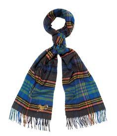 f5ab642d859 Johnstons of Elgin Wide Blue Tartan Scarf | Vivienne Westwood Tartan Scarf, Vivienne  Westwood,