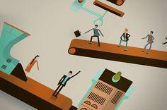 Illustrations: Raconteur covers Q3 - Q4 2012 by The Design Surgery , via Behance