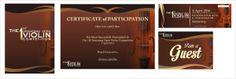 The !st Senarabf Open Violin Competition by ADITYA INDRA PRATAMA, via Behance