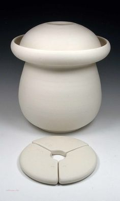Ceramic Anaerobic Fermenting Crock With Lid And Weight