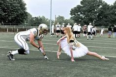 Hahaha!! Love this :D Ballet vs. football #ballet #dancer #football