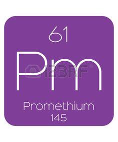 simbolo del hidrogeno la tabla peridica de los elementos prometio foto de archivo
