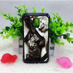 Scarlett Johansson Black White Samsung S5 Cases haricase.com