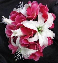This is it! ---Natural Touch Bouquet Frangipani Plumeria Casablanca Lily