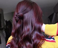 Violet Hair Colors, Hair Color Purple, Hair Dye Colors, Cool Hair Color, Wine Red Hair Color, Dark Burgundy Hair Color, Burgendy Hair, Plum Color, Deep Violet Hair