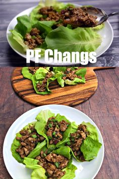 Easy, Keto Low-Carb PF Chang's Chicken Lettuce Wraps with Video is a quick copycat recipe that is healthy and low in calories. This tutorial outlines what lettuce is best for wraps and how to make the wraps. This dish is drizzled in decadent peanut butter Pf Changs Lettuce Wraps, Easy Lettuce Wraps, Lettuce Wraps Ground Beef, Low Carb Chicken Lettuce Wraps, Lettuce Wrap Sauce, Chicken Lettuce Cups, Lettuce Tacos, Lettuce Wrap Recipes, Ketogenic Diet For Beginners