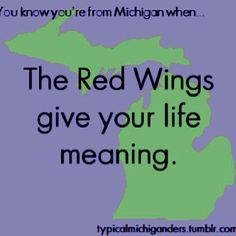 You know you're from Michigan when... RED WINGS.