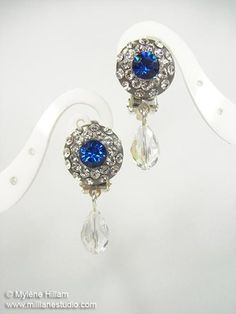 Sapphire and Crystal DIY Earrings | AllFreeJewelryMaking.com