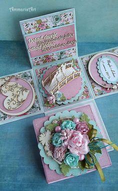 Memories Box, Magic Box, Exploding Gift Box, Organizer Box, Scrapbook Box, Diy And Crafts, Paper Crafts, Gift Wraping, Pop Up Box Cards