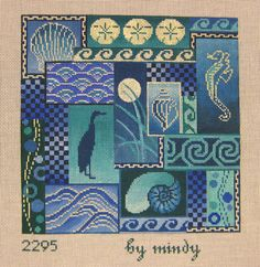 2295 Scenes of the Sea - Blue by Mindy's Factory  8x8 18m $156