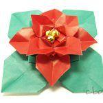 【クリスマスの折り紙】ポインセチア by Marcela Brina