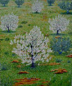 Almendros en flor. Óleo sobre lienzo. 2003. 65x54cm  100€   VENDIDO  (SOLD)