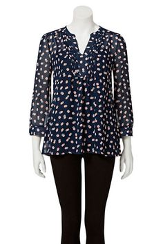 Savannah chiffon spot shirt hst9249