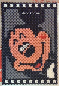 Mickey Mouse hama perler beads by Deco. Melty Bead Designs, Perler Bead Disney, Mini Iron, Graph Paper Art, Dora, Hama Beads Design, Iron Beads, Mickey Mouse And Friends, Perler Patterns