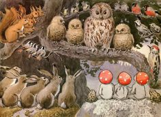 """Elsa Beskow. From """"Children of the Forest"""" one of my favorite books when I was little."""